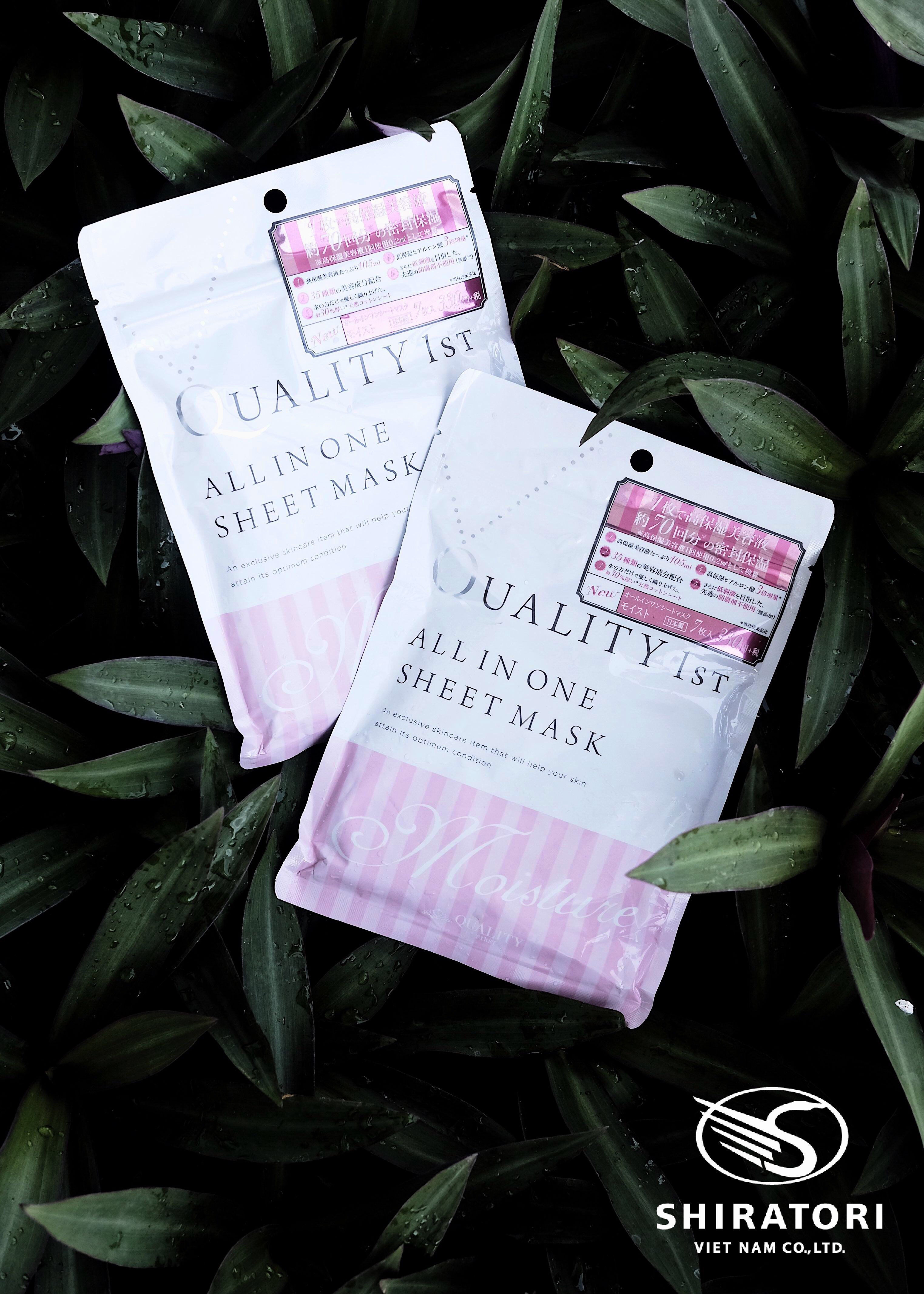 Mặt Nạ Dưỡng Ẩm - Quality 1st All In One Sheet Mask Moisture (7 miếng)